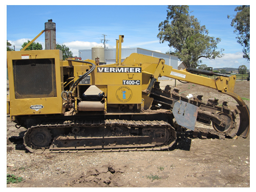 Vermeer T400C Tracked Chain Trencher